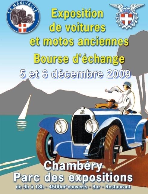 exposition et voitures et motos anciennes à chambéry
