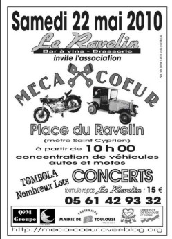 Rassemblement autos motos et concerts 2010 place du for Garage peugeot saint cyprien toulouse
