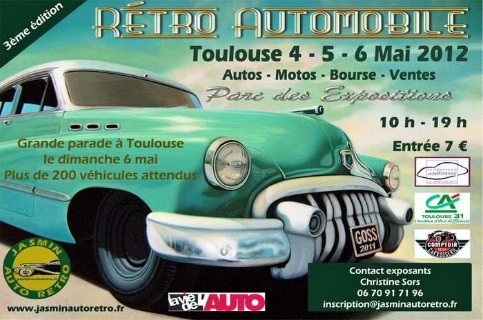 salon retro automobile toulouse 2012. Black Bedroom Furniture Sets. Home Design Ideas