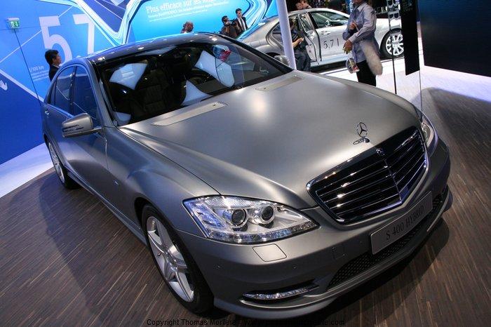 mercedes class s 400 hybrid 2010 au salon mondial de l 39 automobile 2010. Black Bedroom Furniture Sets. Home Design Ideas