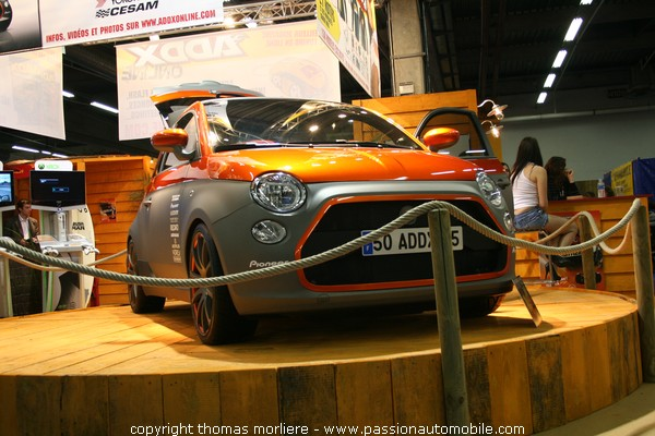 addx fiat 500 paris tuning racing show 2008. Black Bedroom Furniture Sets. Home Design Ideas