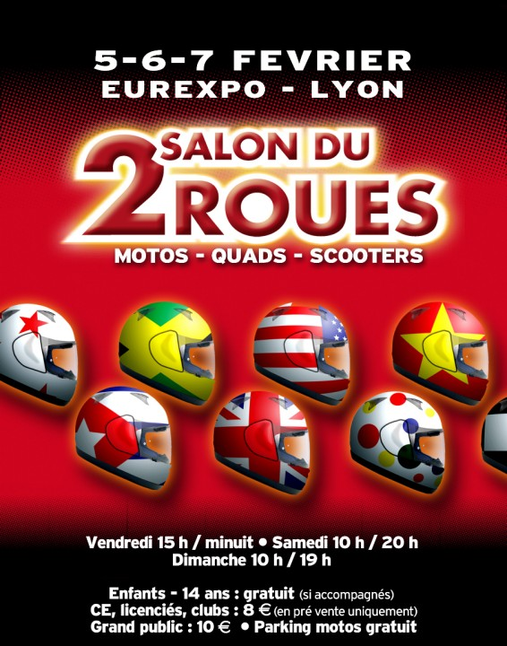 69 salon du 2 roues 5 6 7 fevrier 2010 eurexpo for Salon eurexpo lyon