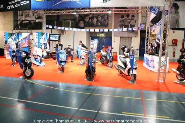 Peugeot au salon moto de lyon 2009 for Prix stand salon