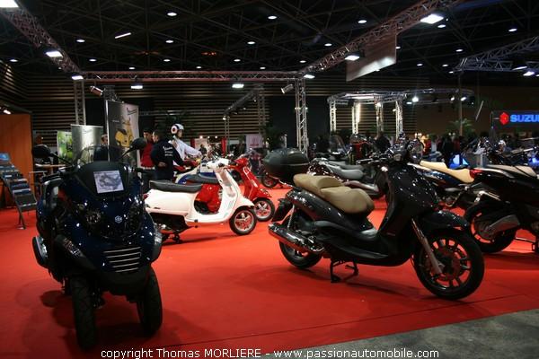scooter piaggio au salon de la moto de lyon 2008. Black Bedroom Furniture Sets. Home Design Ideas