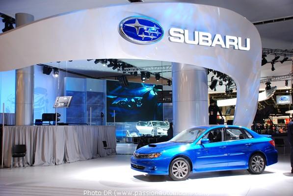 Subaru au salon de dtroit 2009 naias 2009 for Stand salon auto