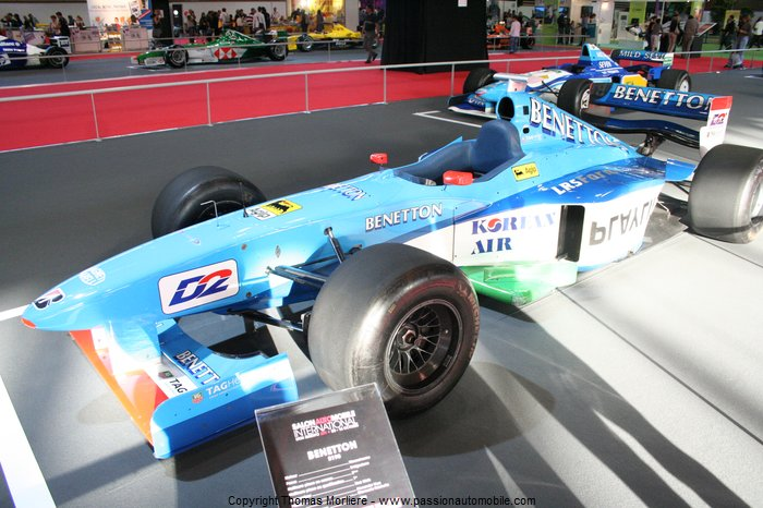 formule 1 benetton b198 1998 salon automobile de lyon 2011. Black Bedroom Furniture Sets. Home Design Ideas