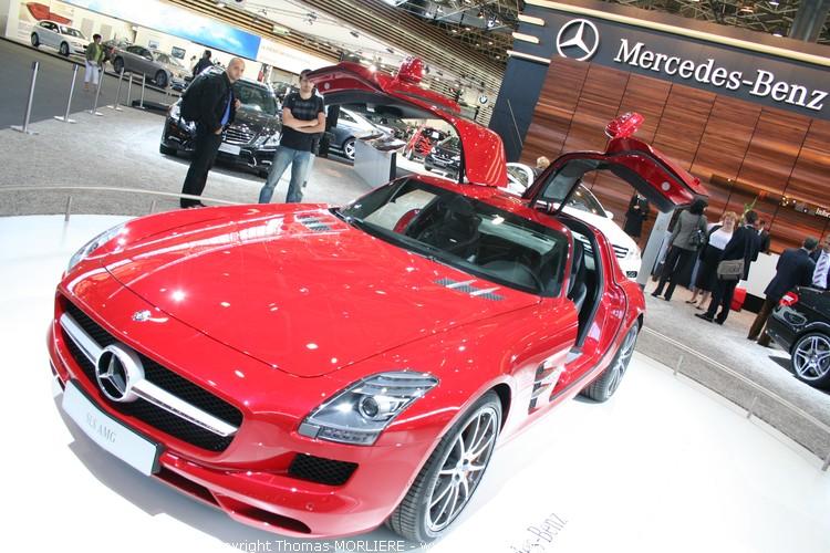 Mercedes sls amg 2009 au salon auto de lyon 2009 for Salon retromobile lyon